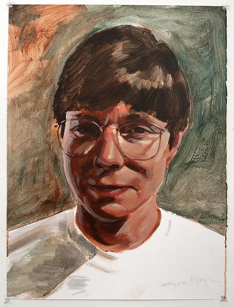Portrait study - Dorothy; acrylic on paper, 22 x 30 in, 1995