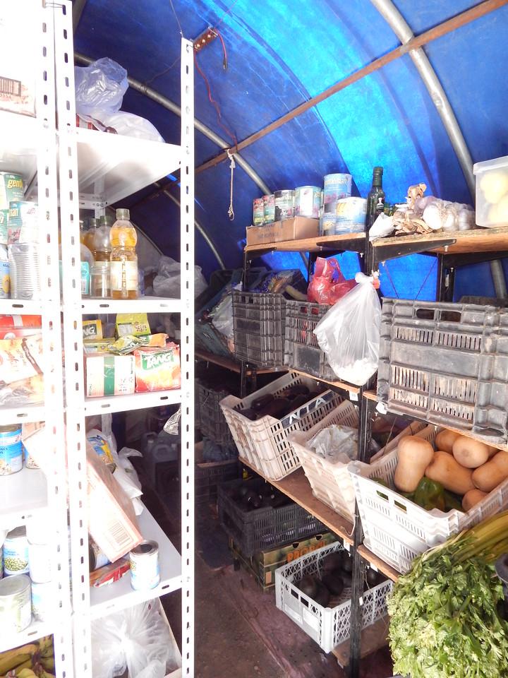 Food storage at Base Camp