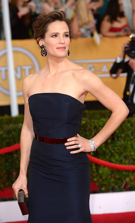 . Jennifer Garner arrives at the 20th Annual Screen Actors Guild Awards  at the Shrine Auditorium in Los Angeles, California on Saturday January 18, 2014 (Photo by Michael Owen Baker / Los Angeles Daily News)