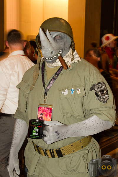 Rhino soldier Cosplayers at DragonCon 2015