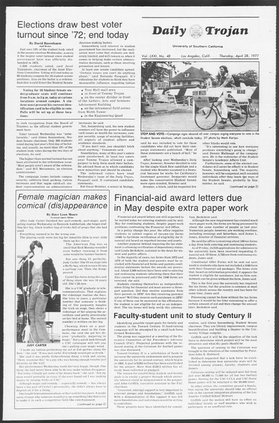 Daily Trojan, Vol. 71, No. 48, April 28, 1977