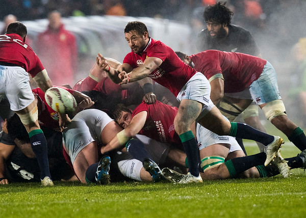 Greig Laidlaw during game 5 of the British and Irish Lions 2017 Tour of New Zealand,The match between  The Maori All Blacks and British and Irish Lions, Rotorua International Stadium, Rotorua, Saturday 17th June 2017 (Photo by Kevin Booth Steve Haag Sports)  Images for social media must have consent from Steve Haag