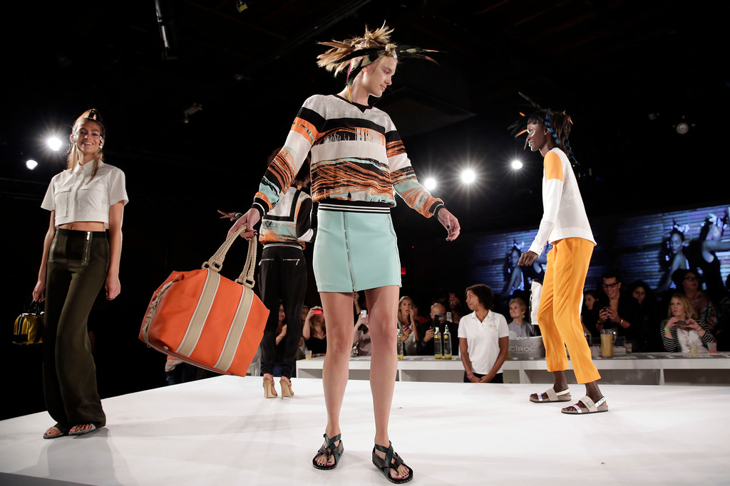 . The L.A.M.B. Spring 2015 collection is presented during Fashion Week in New York,  Friday, Sept. 5, 2014. (AP Photo/Richard Drew)