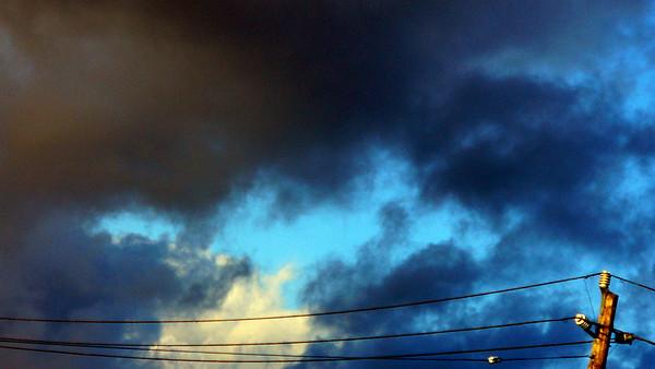 Clouds, sky, sunset, birds: Sonoma County CA, Oct. 2007