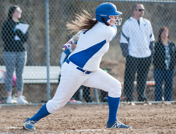 04/09/18 Wesley Bunnell | Staff Southington softball defeated Bristol Eastern 6-1 at Southington High School on Monday afternoon. Callie Gendron (7)