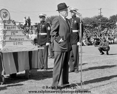 """Lt. Gen. """"Chesty"""" Puller, Parris Island MCRD, 1967"""