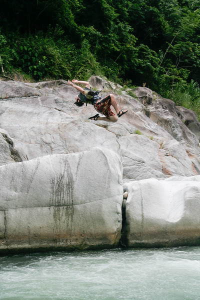 Our guide decided to try his first-ever back-flip off of a smaller rock. It started out looking decent...