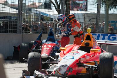 Indy Car Crash