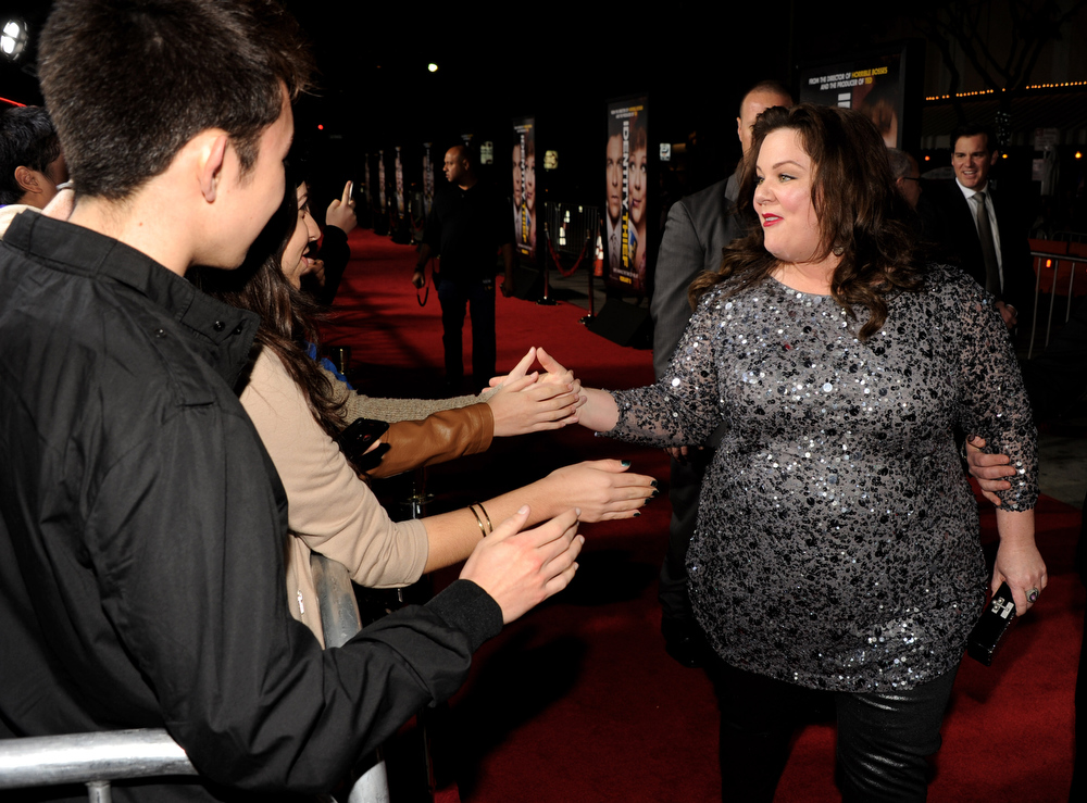 """. Actress Melissa McCarthy arrives at the premiere of Universal Pictures\' \""""Identity Theft\"""" at the Village Theatre on February 4, 2013 in Los Angeles, California.  (Photo by Kevin Winter/Getty Images)"""