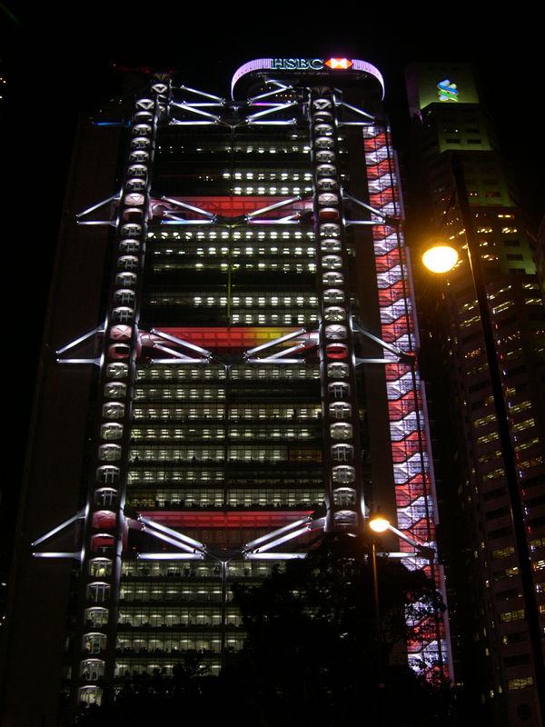 Psychodelic stairwell on Hong Kong Island