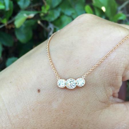 .71ctw Old European Cut Diamond 3-Stone Pendant