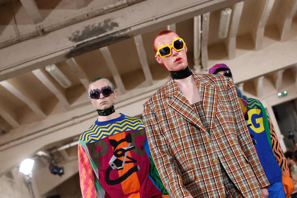 . Models wear creations for Walter van Beirendonck men\'s Fall-Winter 2018/2019 fashion collection presented in Paris, Wednesday, Jan.17, 2018. (AP Photo/Christophe Ena)