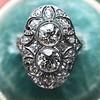 1.75ctw Edwardian Toi et Moi Old European Cut Diamond Ring  27