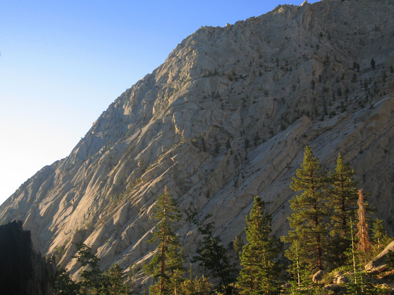 morning sunlight on Lone Pine ridge