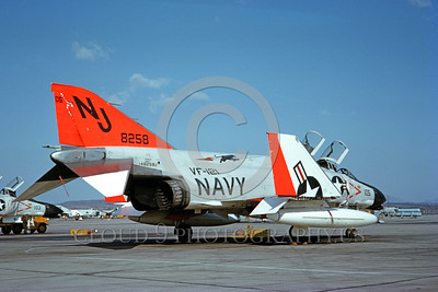 U.S. Navy McDonnell Douglas F-4 Phantom II Jet Fighter Day-Glow Color Scheme Military Airplane Pictures