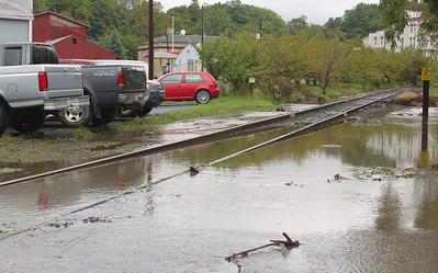 Flooded Railroad Tracks, Hazle Street, Tamaqua (9-28-2011)