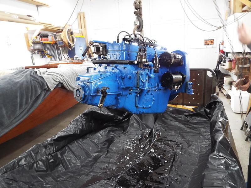 Engine sprayed with engine degreaser.
