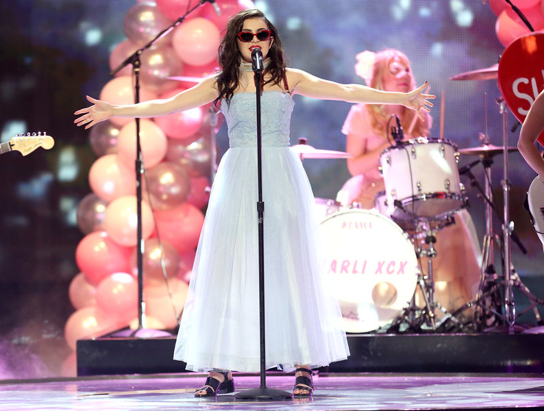 . Charli XCX performs on stage at the 42nd annual American Music Awards at Nokia Theatre L.A. Live on Sunday, Nov. 23, 2014, in Los Angeles. (Photo by Matt Sayles/Invision/AP)