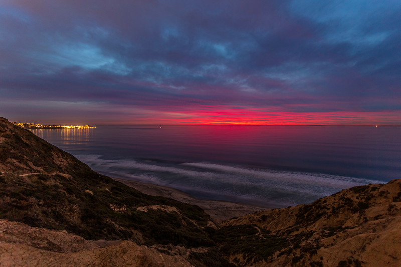 Torrey Pines Gliderport Blue and Pink Sunset. 3 of 4.
