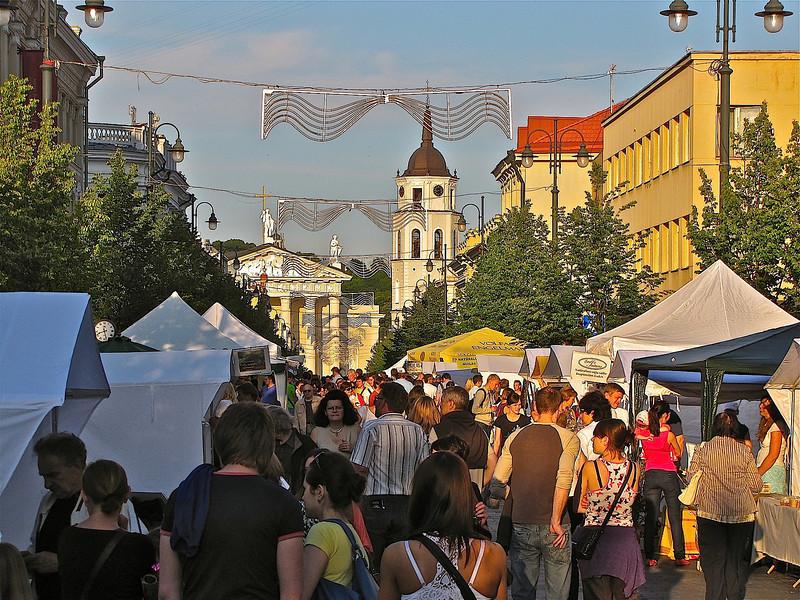 A street festival on Gedimino Prospect