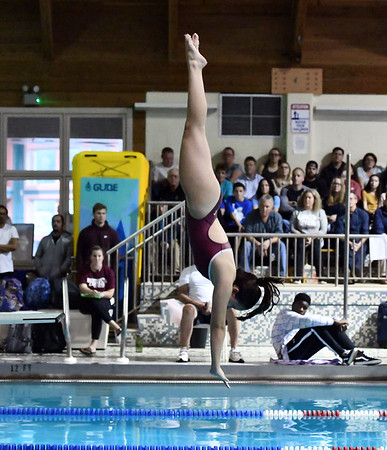 10/29/2019 Mike Orazzi | Staff Bristol Central's Christina Tomcak  during diving at Tuesday's girls swim meet with Bristol Eastern.