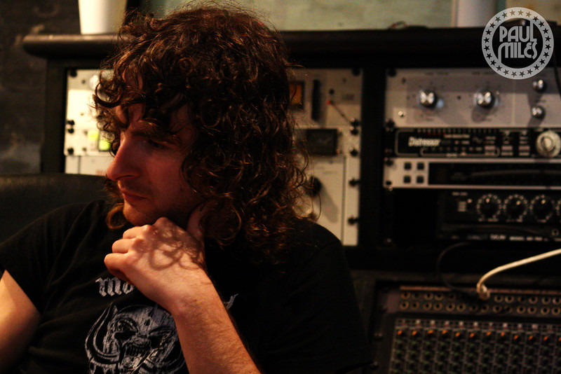 STUDIO TIME: Shooting Airbourne for Germany's Rock Hard magazine during the first press listening of their sophomore album, 2009.