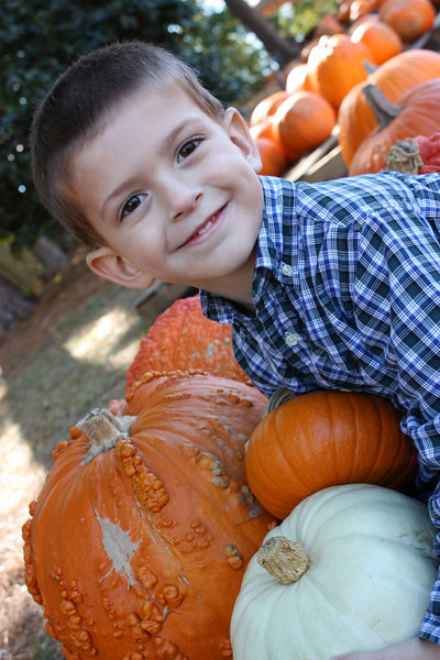 Brandon in the Pumpkin Patch