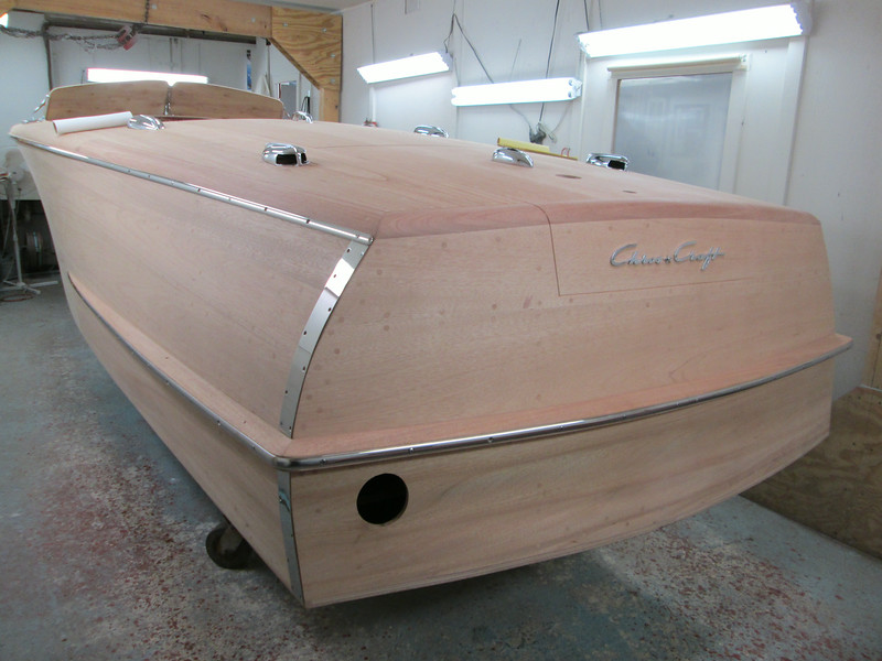 Port rear view of new rub rail and transom guards fit.