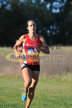 Open Race Women's Finish - 2013 Michigan Intercollegiate XC Meet
