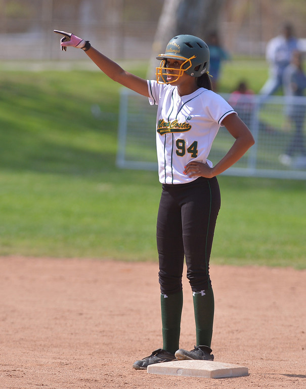 . 0517_SPT_TDB-L-MC-TORRANCE--- Torrance, CA--5/16/13--- Staff Photo: Robert Casillas  - Daily Breeze / LANG--- Mira Costa defeated Torrance High 7-1 in CIF DIV III softball playoff game at Wilson Park in Torrance. Taylor Glover.
