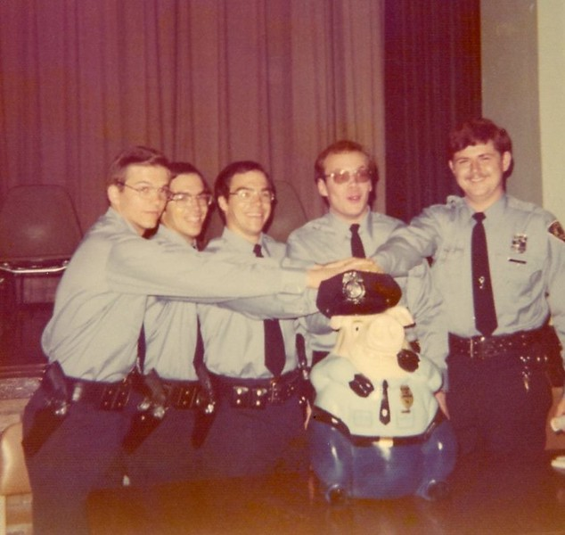 May 1976 Grad ceremony Watts, Wenger twins, Jack Geilker, Mike McClary