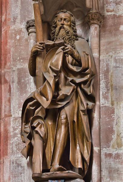 Nürnberg. St. Sebald: hl. Andreas von vorn (Veit Stoß, 1500/10)