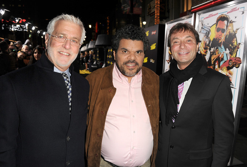 ". Rob Friedman, Lionsgate Motion Picture Group Co-Chairman, actor Luis Guzman, and Patrick Wachsberger, Lionsgate Motion Picture Group Co-Chairman arrive at the premiere of Lionsgate Films\' ""The Last Stand\"" at Grauman\'s Chinese Theatre on January 14, 2013 in Hollywood, California.  (Photo by Kevin Winter/Getty Images)"