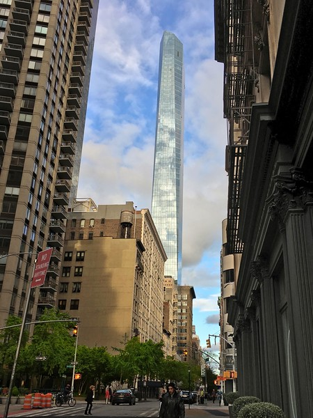 Looking east on E 22nd St to Madison Square Park Tower