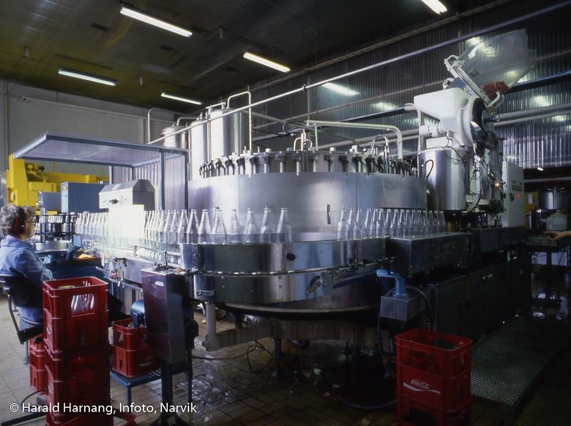 Narvik mineralvannfabrikk, like før nedlegging.