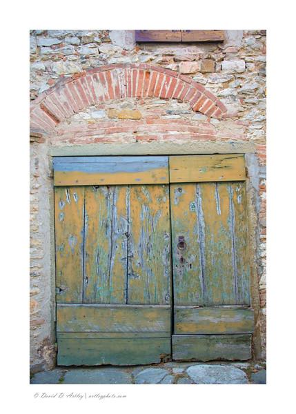 Door detail, Montefioralle, Chianti, Italy