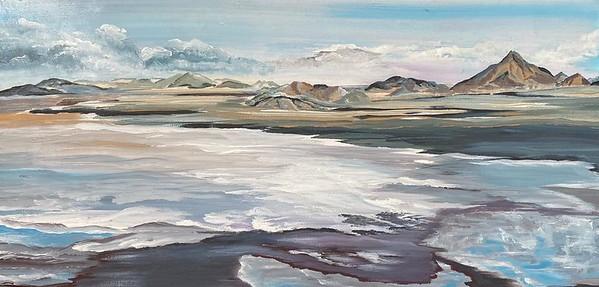 """""""Seascape"""" (acrylic on canvas) by Irina Ges"""