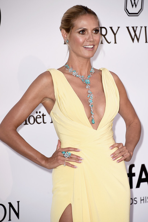 . CAP D\'ANTIBES, FRANCE - MAY 19:  AmfAR ambassador Heidi Klum arrives at amfAR\'s 23rd Cinema Against AIDS Gala at Hotel du Cap-Eden-Roc on May 19, 2016 in Cap d\'Antibes, France.  (Photo by Ian Gavan/Getty Images)