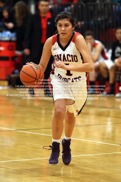 2016 Ignacio Girls Varsity Basketball vs Bayfield January 26