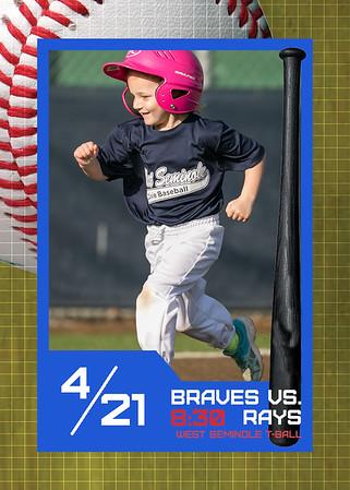 WS Braves vs Rays - 8:30 April 21, 2014