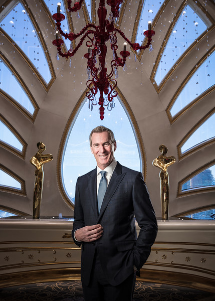 Kevin Kelley, chief operating officer, Macau, of Galaxy Entertainment Group (GEG), poses in Macau.