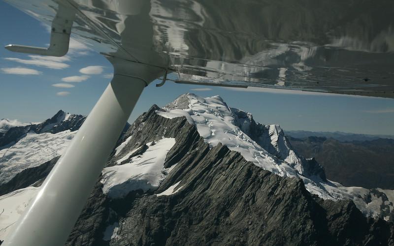 Auf dem Flug zum Milford Sound