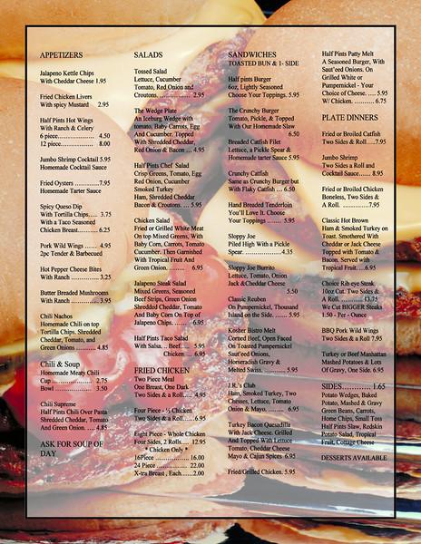 HPB Restaurant Menu Concepts