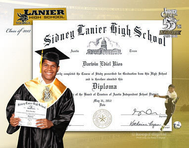2013 Lanier Keedjit Diplomas Proof Photos