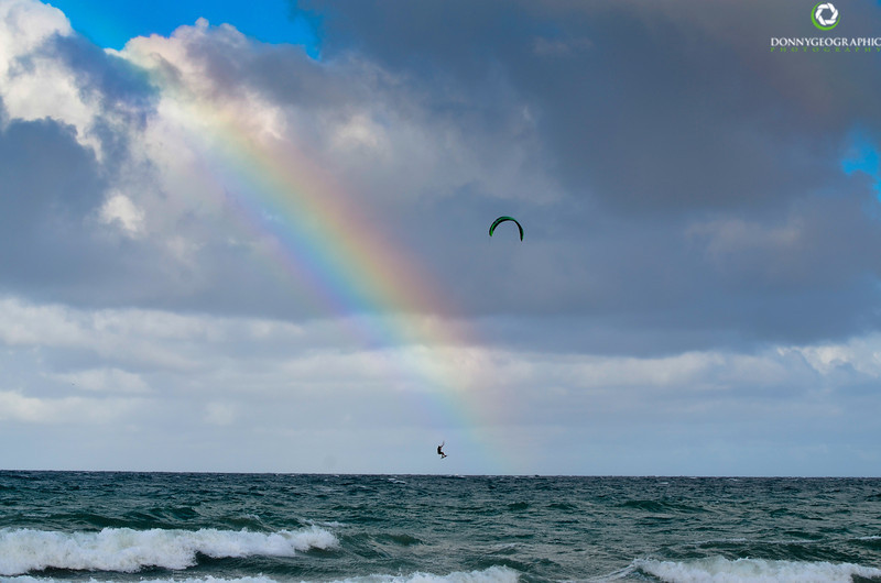 Rainbow surfing in Fort Lauderdale