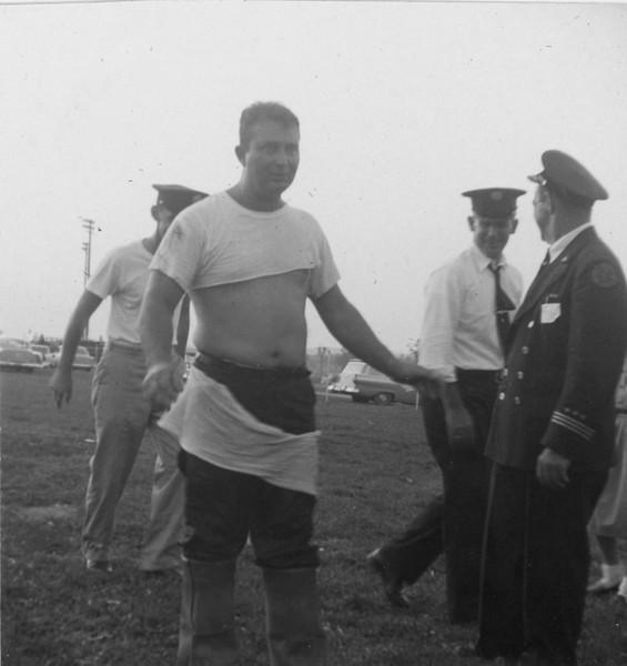 Elridge Pier (shirt torn) Howard Musgrove and others