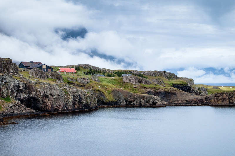 Houses along one of the Fjords