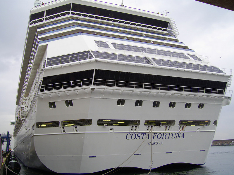 M/S COSTA FORTUNA : the stern.