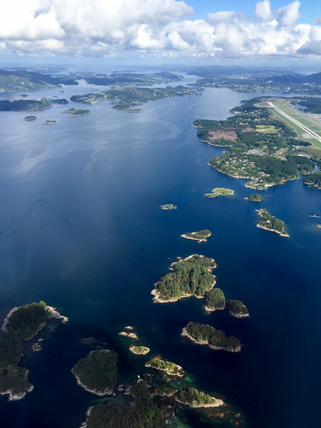 Flying above Bergen, Norway