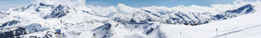 Panorama from Whistler, BC, Canada